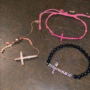 Jewelry - 3 pack cross bracelet